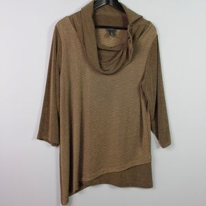 Chico's Travelers Cowl Neck Top Size 2 Large
